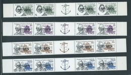 Tonga 1984 Explorers & Ship Set Of 4 X 4 As Gutter Strips With Labels MNH Specimen O/P - Tonga (1970-...)