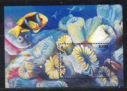 Guyana. 1996. Caribbean Flower Coral. MNH SS. SCV = 7.00 - Marine Life