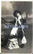 75882 ARGENTINA CARNIVAL COSTUMES DESGUISE GAUCHO AÑO 1919 POSTAL POSTCARD - Argentina