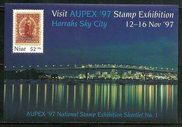"Niue        "" AUPEX '97 ""       2 Souvenir Sheets      SC# B62-63  MNH** - Niue"