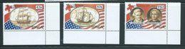 Tonga 1988 US Treaty Set 3 MNH - Tonga (1970-...)