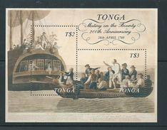 Tonga 1989 Bligh Mutiny Anniversary Miniature Sheet MNH - Tonga (1970-...)