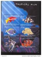 GRENADA   &  2168 MINT NEVER HINGED MINI SHEET OF FISH-MARINE LIFE  #  M-345-3   ( - Fische