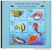 PALAU   565 MINT NEVER HINGED MINI SHEET OF FISH-MARINE LIFE OF SOUTH PACIFIC - Marine Life
