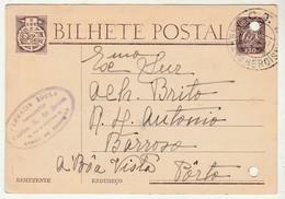 Postal Stationery * Portugal * 1947 * Farmacia Sousa * Angra Do Heroísmo * Holed - Entiers Postaux