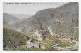 "Ceylon - Railway Horse-Shoe Bend On Nanu Oya Pass - Plate ""Art"" Post Card 59 - Sri Lanka (Ceylon)"
