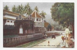"Ceylon - Kandy - Temple Of The Holy Tooth - Plate ""Art"" Post Card 88 - Sri Lanka (Ceylon)"
