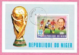République Du NIGER - 1977 - Bloc N° 19 - Coupe Du Monde De Football Argentine 1978 - Oblitéré - Niger (1960-...)