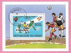 République Du NIGER - 1981 - Bloc N° 35 - Coupe Du Monde De Football Espagne 1982 - Oblitéré Numéro Yvert Et Tellier Blo - Niger (1960-...)