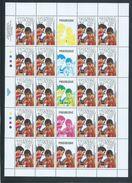Tonga 1989 Commonwealth Games Sport Set Of 4 X 20 In Full Sheets MNH Specimen Overprint - Tonga (1970-...)