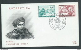 Belgium Antarctic 1966 Charity Issue Pair On Illustrated FDC Unaddressed - FDC