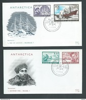 Belgium Antarctic 1966 Charity Issue 4 Values On 2 Illustrated FDC Unaddressed - FDC