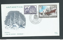 Belgium Antarctic 1966 Charity Issue 2 Values On 2 Illustrated FDC Unaddressed - FDC