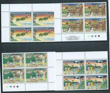 Tonga 1991 Christmas Set Of 4 X 4 In Blocks MNH Specimen Overprints - Tonga (1970-...)