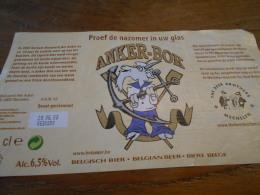 ETIQUETTE BIERE ANKER-BOK 75 CL - Cerveza