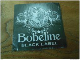 ETIQUETTE BIERE BOBELINE BLACK LABEL - Beer