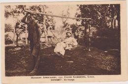 AFRIQUE, DAHOMEY,danhomé 1900,sud Est Bénin Actuel,royaume Africain,missionnaire En Voyage,métier Porteur,rare - Dahomey
