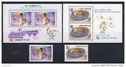 South Korea 1988 Olympic Games Seoul Set Of 2 + 2 S/s MNH - Ete 1988: Séoul