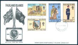 1970 Falkland Islands Port Stanley FDC Defence Force - Falkland Islands