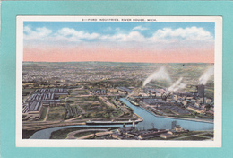 Old Postcard Of River Rouge Plant,Ford Motor Co,,Detroit,Michigan,USA.Y38. - Detroit