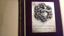 PLAKETA  SSK      BIH   CREPOLJSKO   1940  SARAJEVO - Sport Invernali