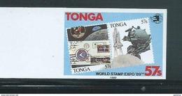 Tonga 1989 Stamp Expo 57s Single Imperforate Plate Proof MNH - Tonga (1970-...)