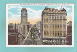 Old Postcard Of Washington Boulevard And Book Cadillac Hotel,Detroit,Michigan,USA.Y38. - Detroit