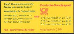 Bund 1992 / MiNr.  MH 22 II Am K1  MZ    Mit  H-Blatt  27 II V    ** / MNH    (mh1180) - [7] République Fédérale