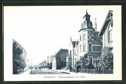 AK Hagenow, Partie An Der Bismarckstrasse Mit Post - Hagenow