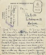 CARTOLINA PRIGIONIERI POW CAMP 28 YOL INDIA 1942 X MODENA - 1900-44 Vittorio Emanuele III