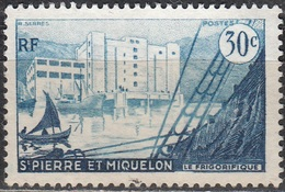 Saint-Pierre Et Miquelon 1955 Yvert 348 O Cote (2015) 0.80 Euro Le Frigorifique De Saint-Pierre - St.Pierre Et Miquelon