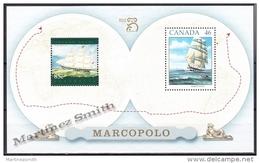 Australie - Australia 1999 Yvert BF 55, Maritime Links, Joint Issue With Canada - Miniature Sheet - MNH - Blocks & Sheetlets