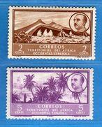 (Mn1) Afrique Occidendale Espagnole **- 1950 - Yvert  2 - 3.  MNH. NUOVI Vedi Descrizione - Sahara Spagnolo