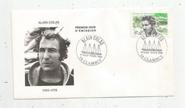 Timbre , FDC , 1 Er Jour , Sports , Voile , ALAIN COLAS , Navigateur , 1943 - 1978 , 58 , CLAMECY - FDC