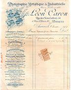 AMIENS.Léon CARON,Photographie Artistique & Industrielle.58,rue Des Trois Cailloux & 45,place St.Denis : 27,5  X 21,7 Cm - 1900 – 1949