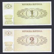 2 BILLETS SLOVENIE SLOWENIEN SLOVENIJA BANKNOTE BILLET BANQUE GELDSCHEIN - Slovénie