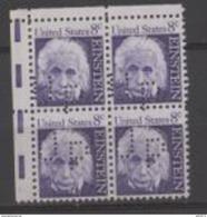 USA Albert EINSTEIN Perforated UP Corner Block Haut Gauche - Albert Einstein