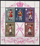 Antigua- Military Uniforms - Michel N° Bl 2 - XX - Cote 10.00 Euro - Militaria