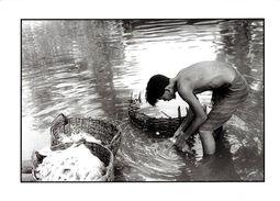 CAMBODGE RIVIERE PECHE  FEVRIER 2002 PHOTO PRISE ENVIRONS DE SIEM REAP PHOTOGRAPHE NOONC EDIT. CART'COM - Cambodge