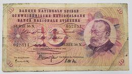 BILLET SUISSE - P.45 I Signe 41 - 10 FRANCS - 2 AVRIL 1964 - GOTTFRIED KELLER - FLEUR ALPINE - Suiza