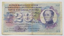 BILLET SUISSE - P.45 R Signe 45 - 20 FRANCS - 5 JANVIER 1970 - Général GUILLAUME HENRI DUFOUR - FLEUR ALPINE - Suiza