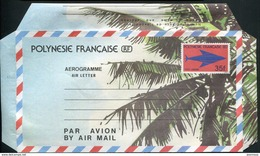 POLYNESIE FRANCAISE - AEROGRAMME N° 4 * * - SIGLE DES PTT - LUXE - Aérogrammes