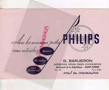 87 - SAINT JUNIEN- BUVARD  RADIO POSTE PHILIPS- G. BARJERON-BD REPUBLIQUE - - Blotters