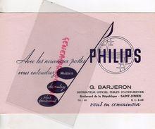 87 - SAINT JUNIEN- BUVARD  RADIO POSTE PHILIPS- G. BARJERON-BD REPUBLIQUE - - Buvards, Protège-cahiers Illustrés