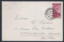 SAAR NEUNKIRCHEN 3.5.1950 PETER WUST BRIEF LETTRE MICHEL 290 SARRE SAARLAND Pour STRASBOURG NEUDORF BAS-RHIN FRANCE - Covers & Documents