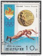 DPR Korea 1976 Sc. 1493 XXI Olimpiade Montreal Medaglie D ' Oro Salto Con L ' Asta Tadeusz Slusarski Gold Winners - Estate 1976: Montreal