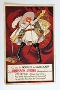Publicité Ancienne Nouilles De Gasgogne Brusson Jeune Villemur Cyrano De Bergerac Illustrateur Mich Pâtes - Advertising