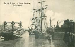 ROYAUME-UNI.N°29071.ANGLETERRE.SWING BRIDGE AND INNER HARBOUR,FOLKESTONE - Folkestone
