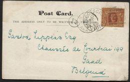 AUSTRALIA VICTORIA Postcard To Belgium 1903. Vew Melbourne (906) - 1850-1912 Victoria