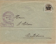 CZESTOCHOWA - Poste Locale Imprimé 29 Juin 1916 Fischer N° 2e Violet - Pliure - ....-1919 Provisional Government